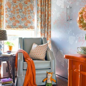 Baby Room Decoration orange and gray