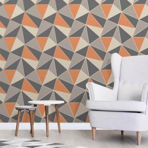 کاغذ دیواری نارنجی