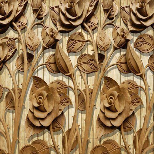 پوستر سه بعدی طرح گل کد 1