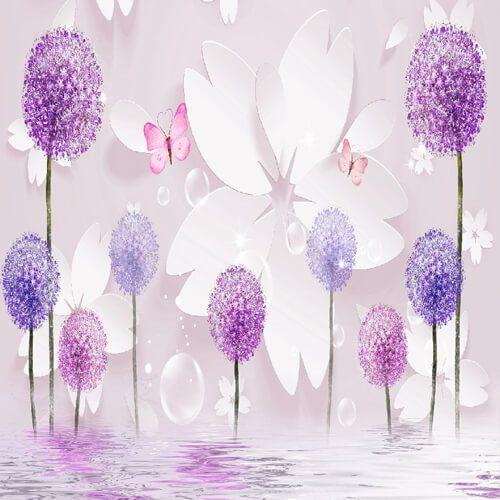 پوستر سه بعدی طرح گل کد 10
