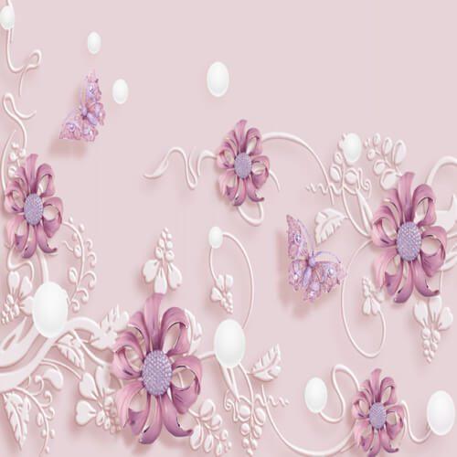 پوستر سه بعدی طرح گل کد 11