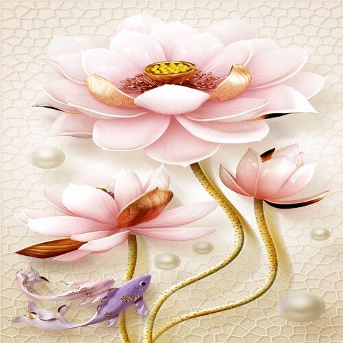 پوستر سه بعدی طرح گل کد 16