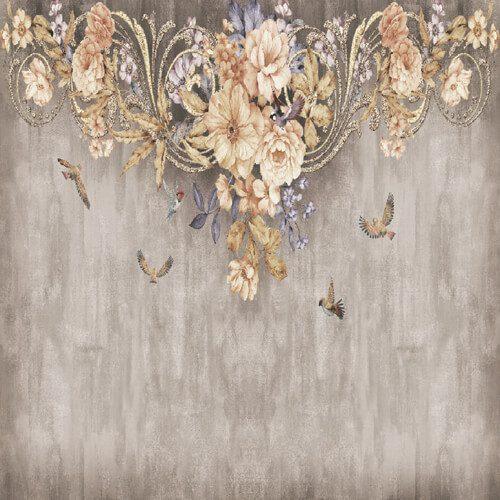 پوستر سه بعدی طرح گل کد 18