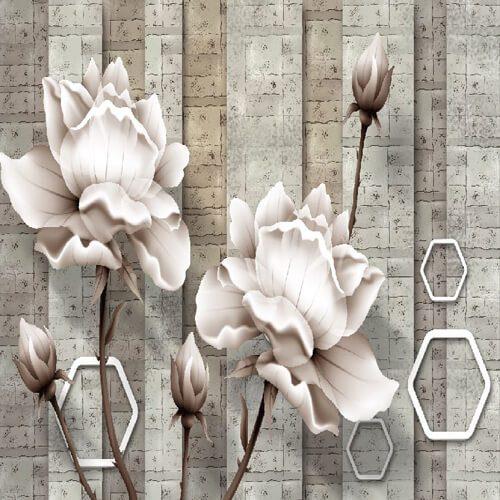 پوستر سه بعدی طرح گل کد 2