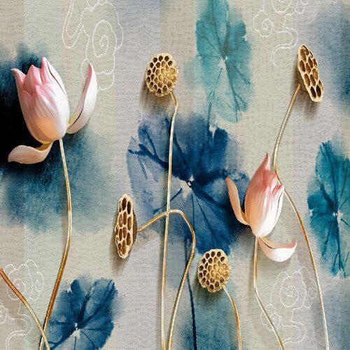 پوستر سه بعدی طرح گل کد 20