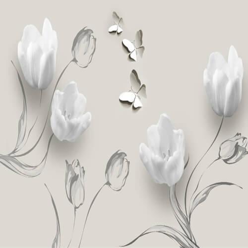 پوستر سه بعدی طرح گل کد 28
