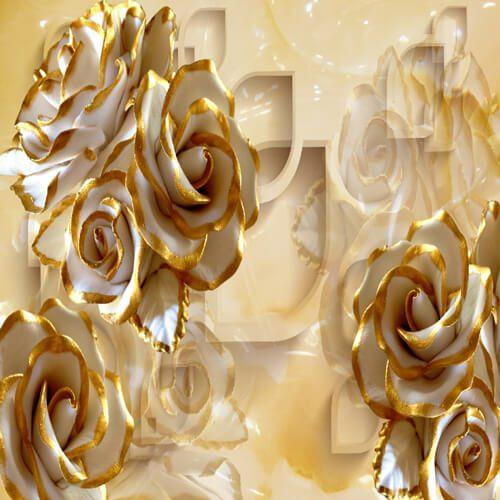 پوستر سه بعدی طرح گل کد 30
