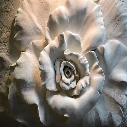 پوستر سه بعدی طرح گل کد 35