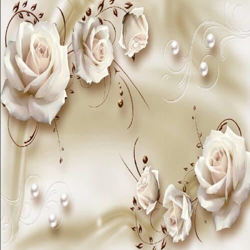 پوستر سه بعدی طرح گل کد 37