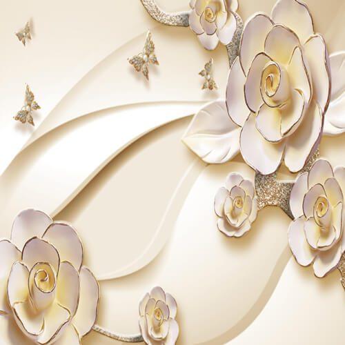 پوستر سه بعدی طرح گل کد 4