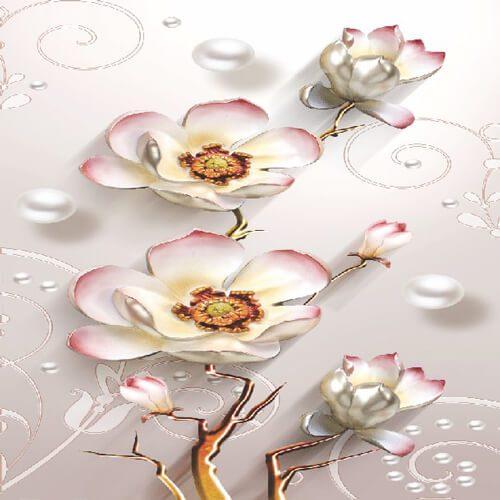 پوستر سه بعدی طرح گل کد 6