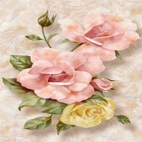پوستر سه بعدی طرح گل کد 7