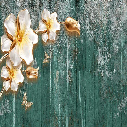 پوستر سه بعدی طرح گل کد 8