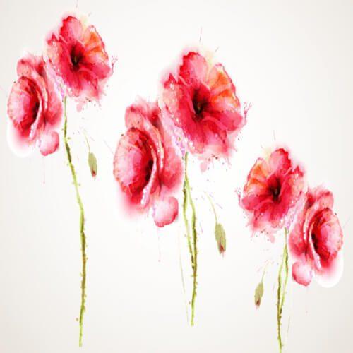 پوستر سه بعدی طرح گل کد 9