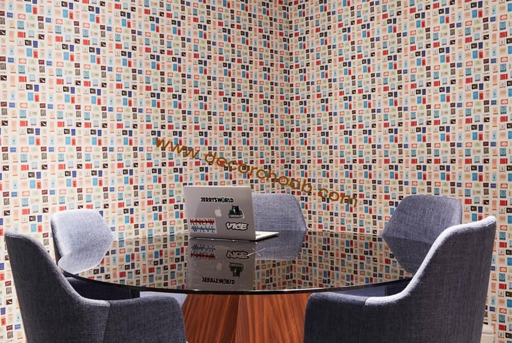 کاغذ دیواری اداری با رنگ های مختلف