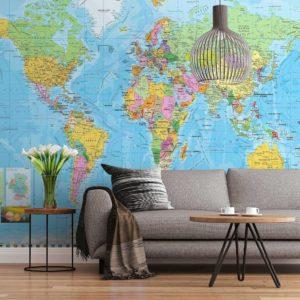 پوستر دیواری نقشه جغرافیایی
