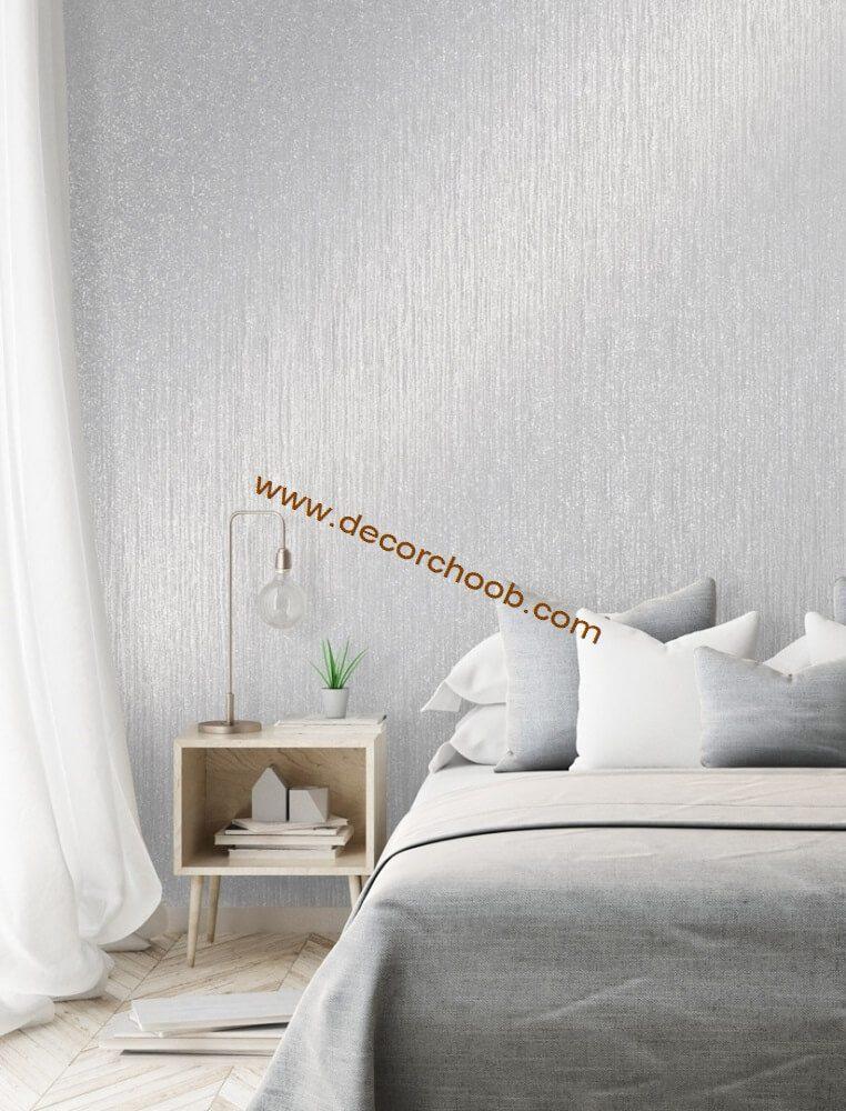 کاغذ دیواری ساده و براق اتاق خواب