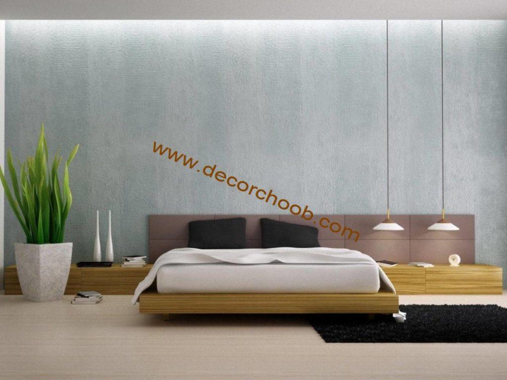 کاغذ دیواری ساده اتاق خواب عروس
