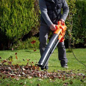 تمیز کردن چمن مصنوعی با استفاده از دمنده برقی
