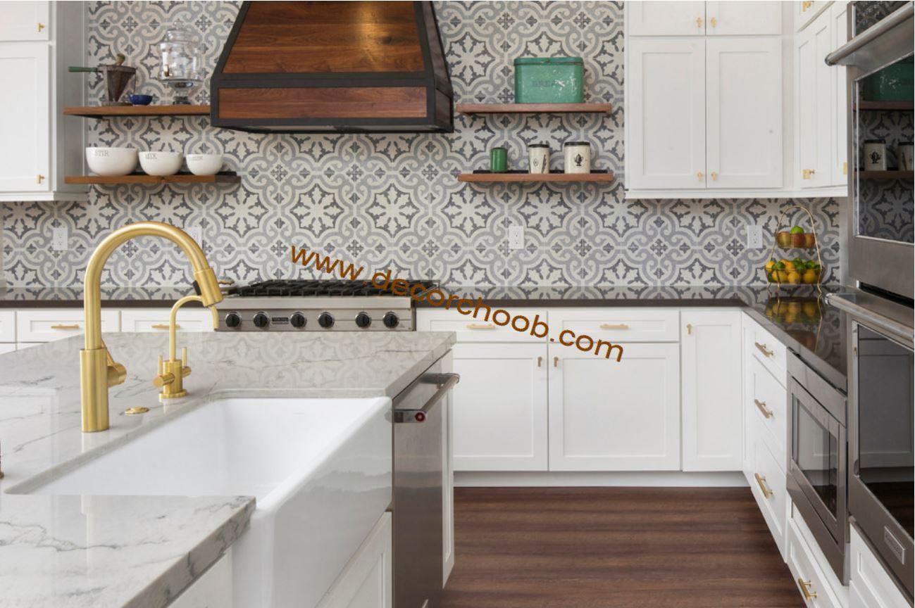 کاغذ دیواری سنتی آشپزخانه