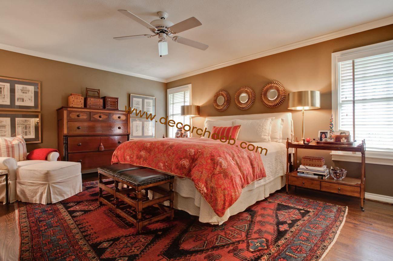 پارکت چوبی در اتاق خواب سنتی