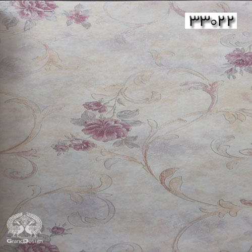 کاغذدیواری گلدار از آلبوم IVANKA با پس زمینه روشن