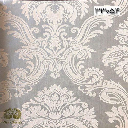 طرح داماسک سفید و درشت با پس زمینه طوسی روشن از آلبوم ایوانکا