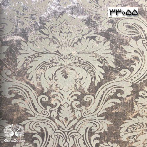 طرح داماسک سفید و درشت با پس زمینه طوسی تیره از آلبوم ایوانکا