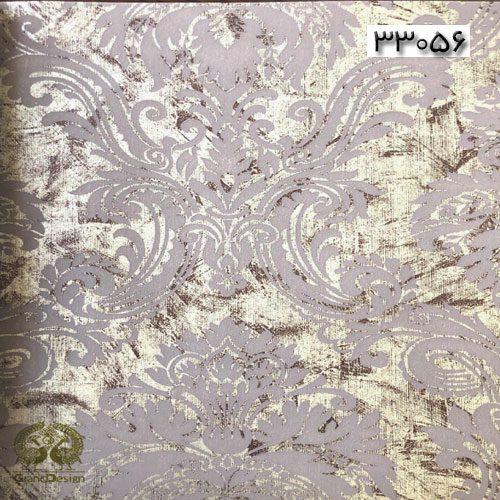 طرح داماسک طوسی با پس زمینه زرد روشن از آلبوم ایوانکا