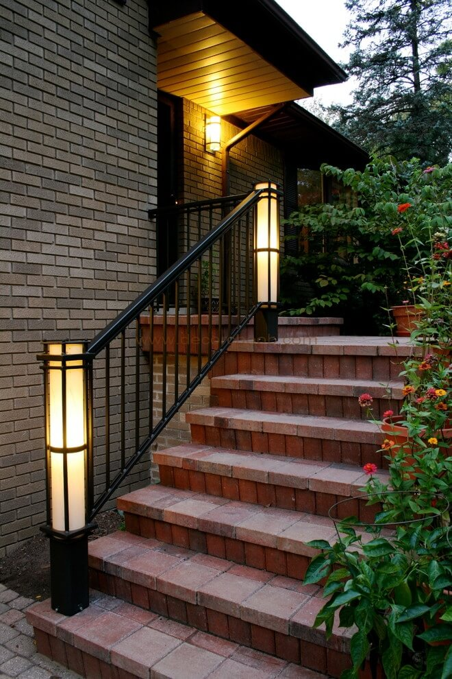 نورپردازی راه پله Illuminated Newels