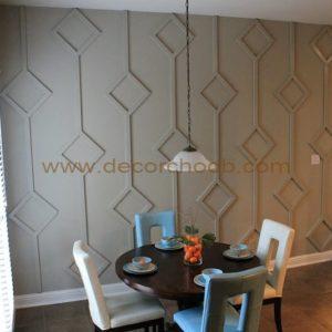 دیوارپوش سه بعدی چوبی
