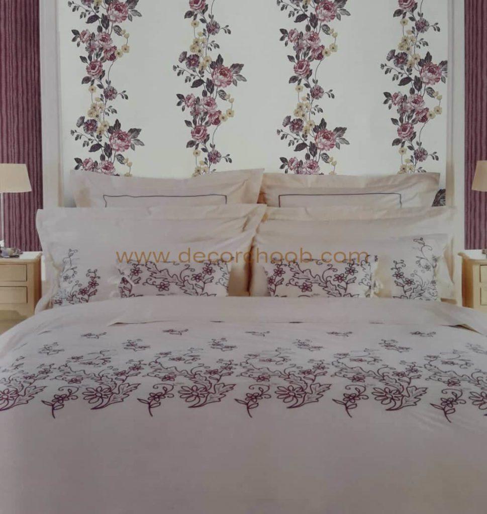 کاغذ دیواری گلدار برای پشت تخت خواب
