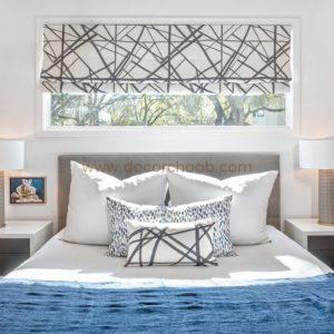 طراحی پنجره پشت تخت خواب