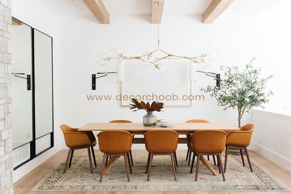 فرش برای زیر میز ناهار خوری