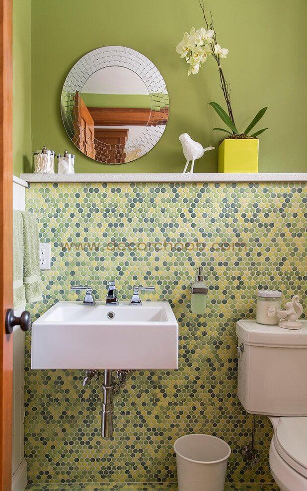 طراحی سرویس بهداشتی با رنگ سبز