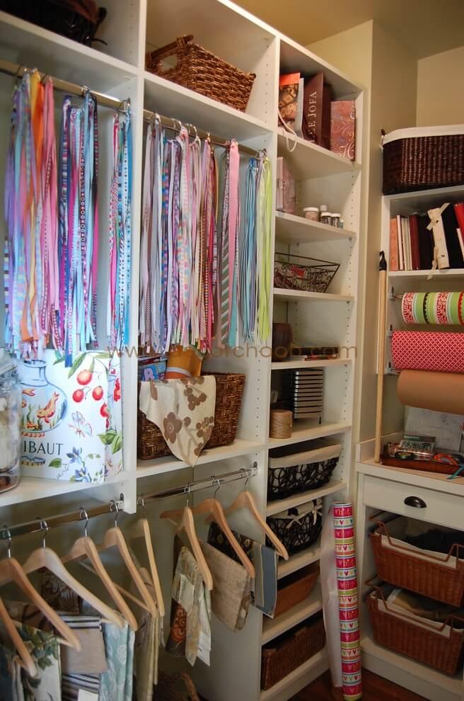 نحوه مرتب کردن لباس و پارچه های اضافی در منزل