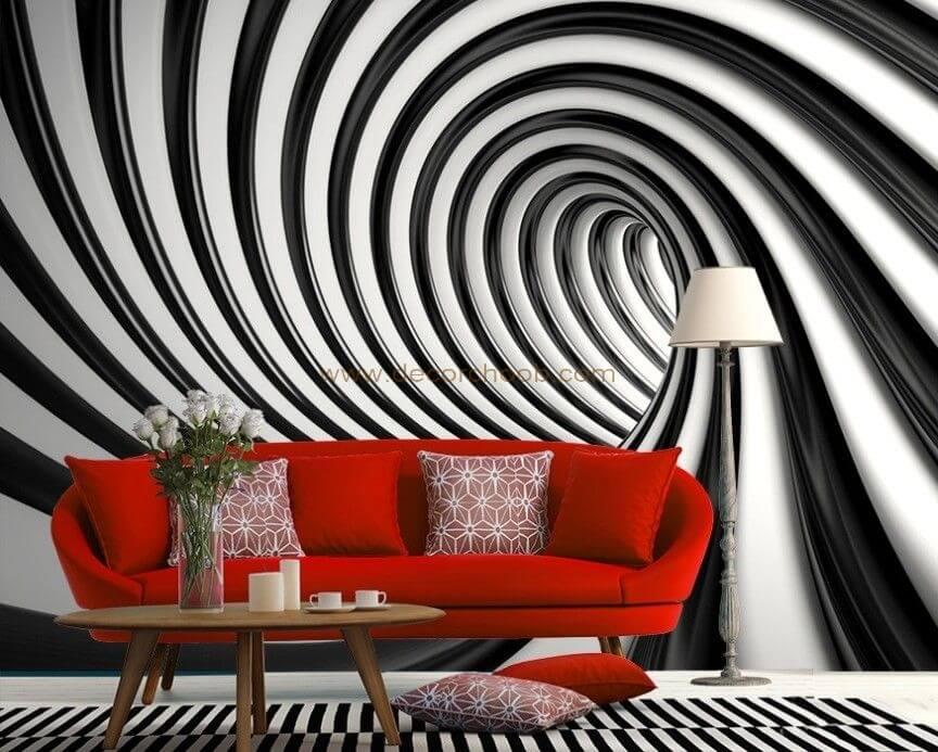 کاغذ دیواری سیاه و سفید