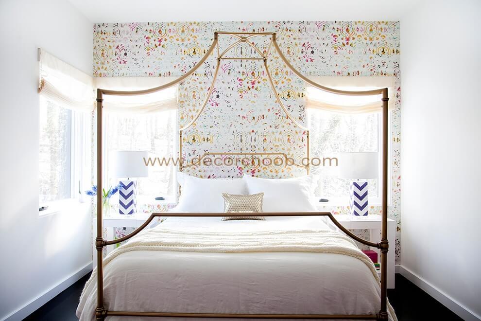 کاغذ دیواری برای پشت تخت خواب