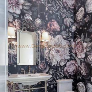 طراحی دکوراسیون بهاری از کاغذ دیواری با طرح و رنگ گل های بهاری استفاده کنید