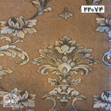 طرح کاغذدیواری مناسب منزل سنتی به رنگ قهوه ای سوخته
