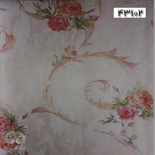 کاغذدیواری سنتی گلدار