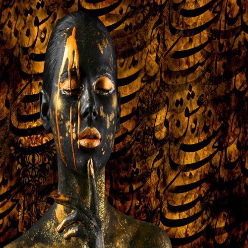 پوستر سه بعدی طرح چهره کد 10