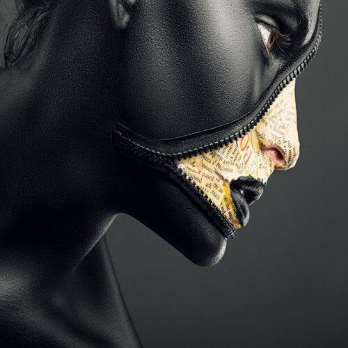پوستر سه بعدی طرح چهره کد 5