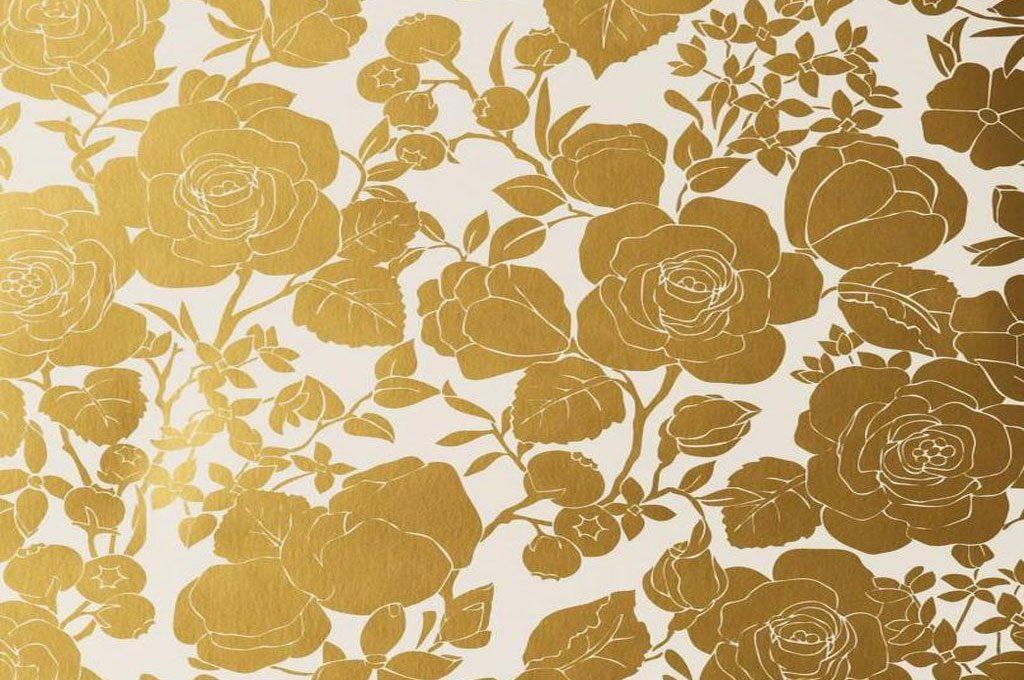 چطور از کاغذ دیواری سفید طلایی استفاده کنیم؟