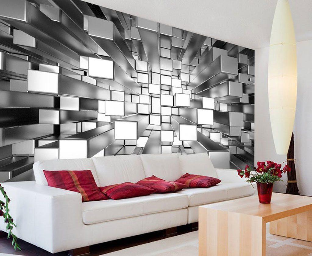 کاربردهای کاغذ دیواری نقره ای براق