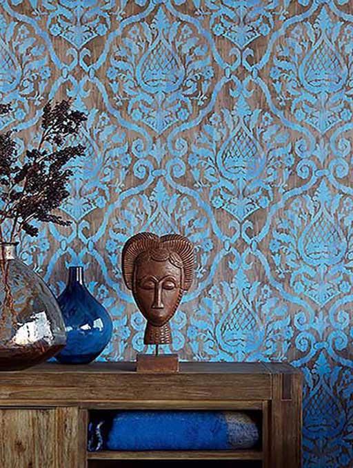 کاغذ دیواری داماسک
